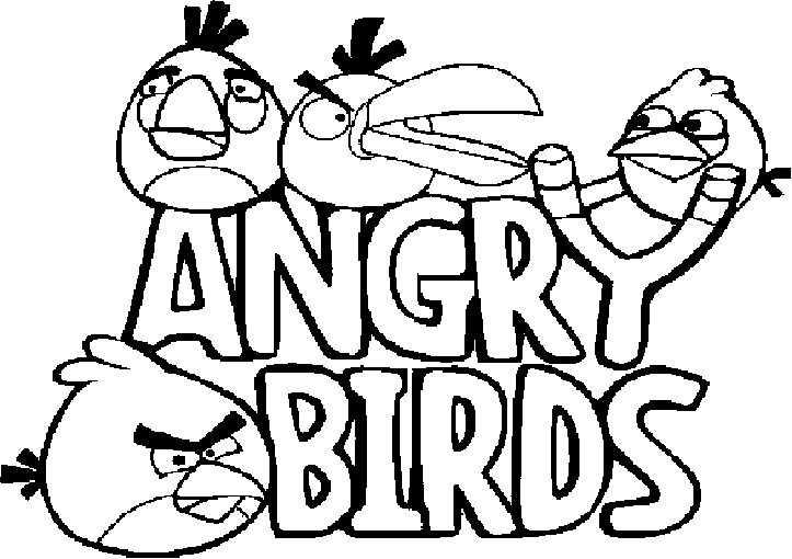 logo angry birds ausmalen