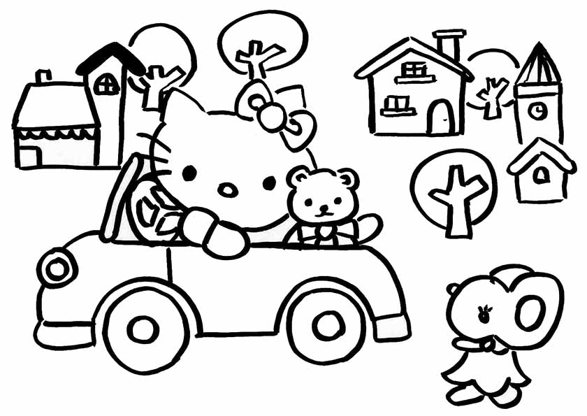 hello kitty mit auto