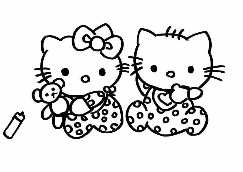 hello kitty mit  ihre schwester