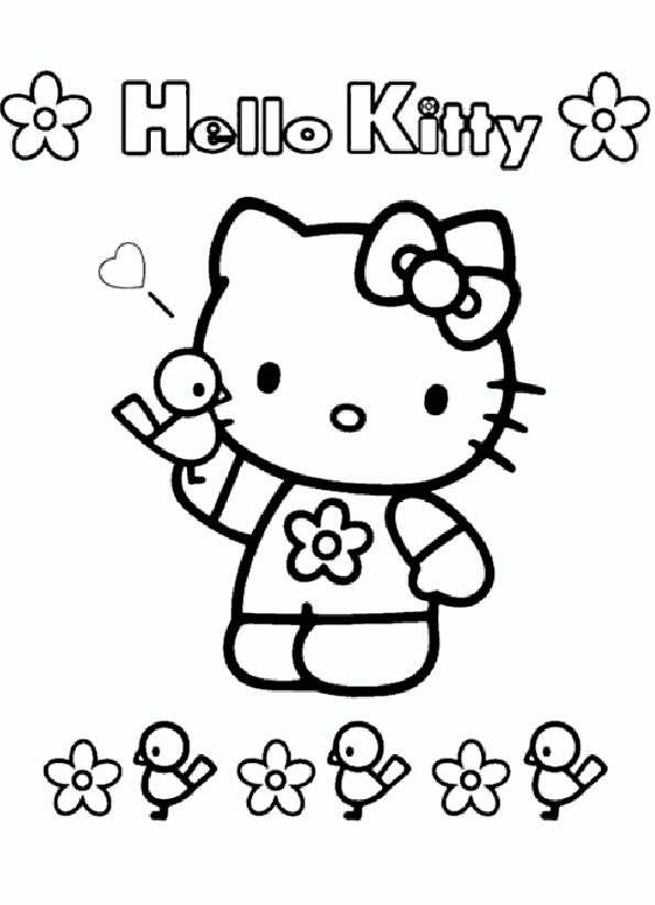 hello kitty 7 zum malen
