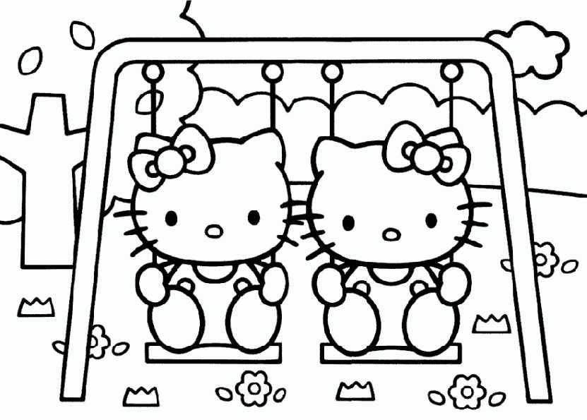hello kitty und ihre schwester 2 ausmalen
