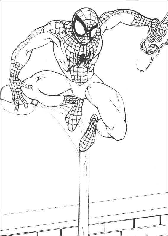 spiderman 9 ausmalen kostenlos