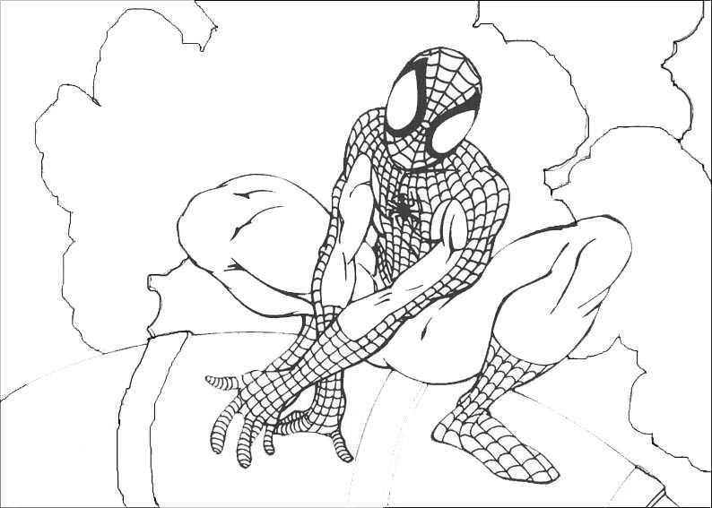 malvorlagen kostenlos spiderman 11