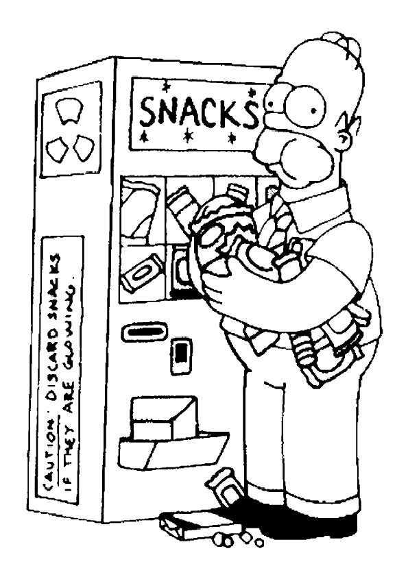 Homer mit Süßigkeiten