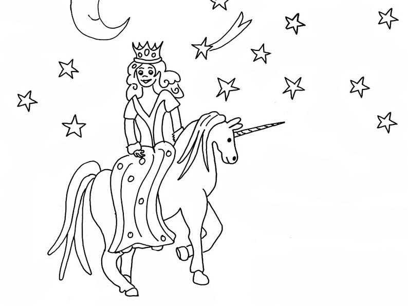 Prinzessin Einhorn Reiter