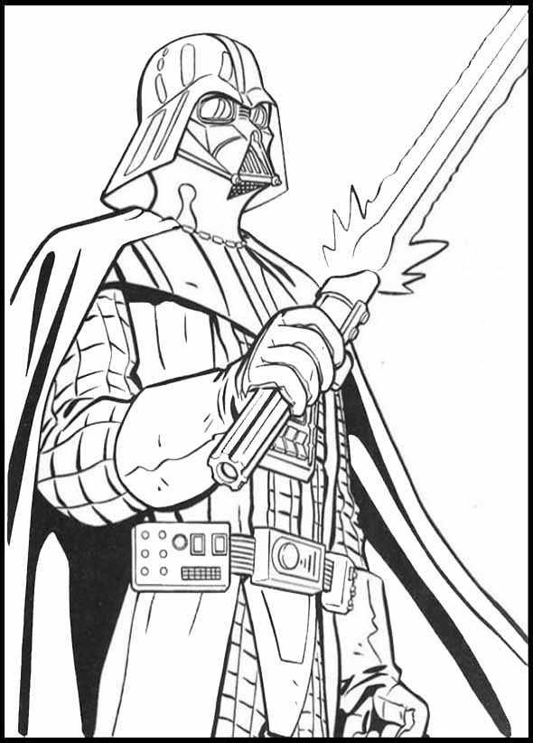 Darth Vader malvorlagen