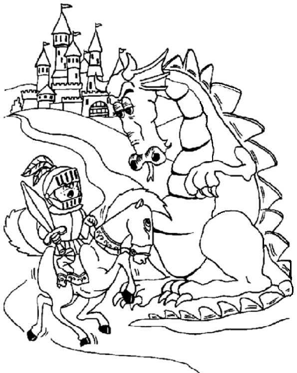 Drachen und Ritter