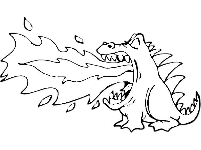 Kleine Feuer speienden Drachen