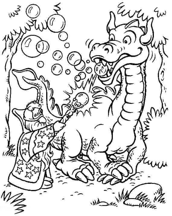 Drachen und Zauberer