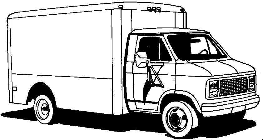 Lieferwagen 1 malvorlagen