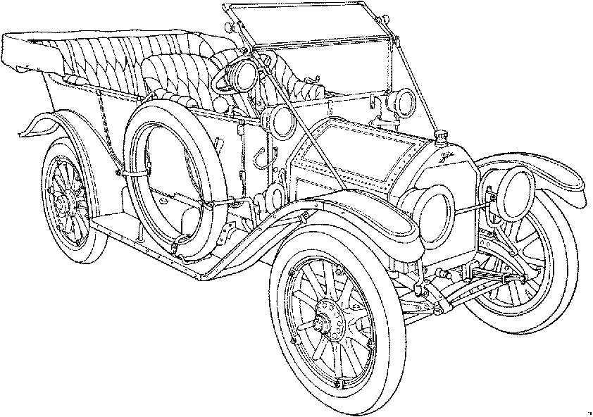 klassische Autos 1 malvorlagen
