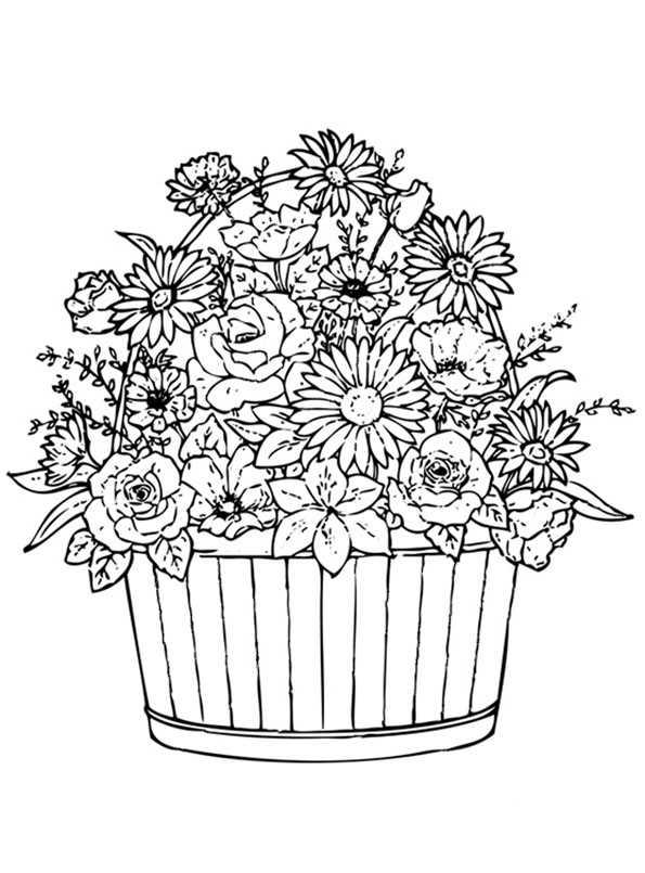 Blumentopfes malvorlagen