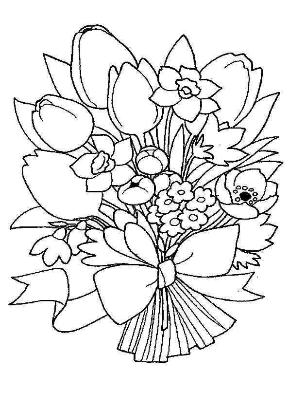 Bouquets ausmalen