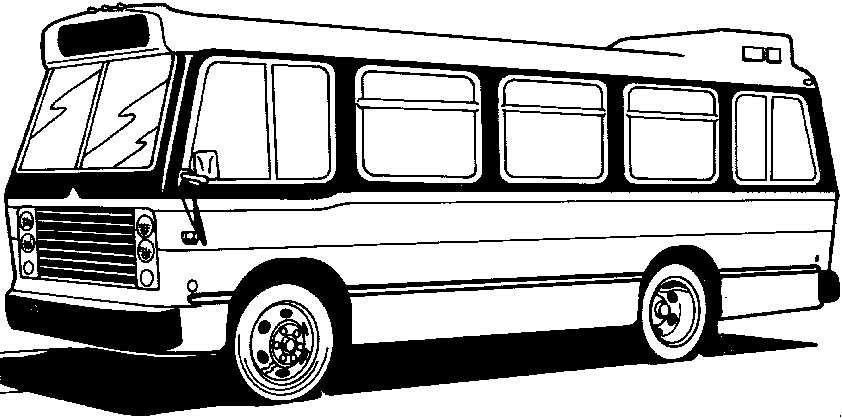 bus malvorlagen