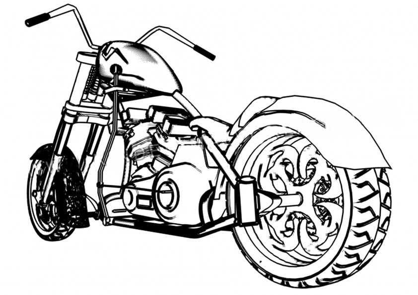 chopper motorrad malvorlagen