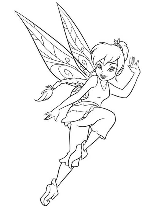 Free coloring pages of fawn pixie hollow for Fawn fairy coloring pages