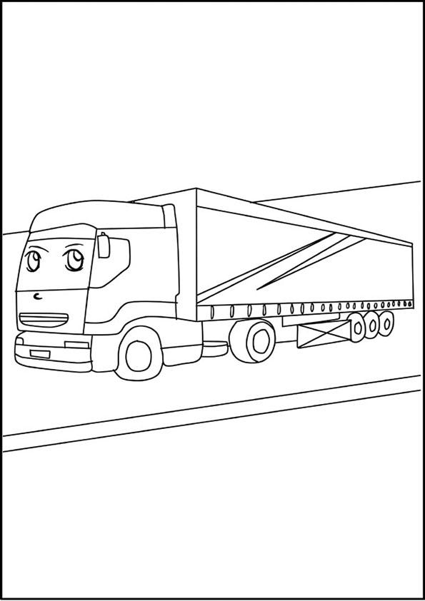 Lastwagen lkw 1 malvorlagen