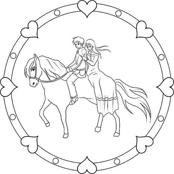 pferde im mandala