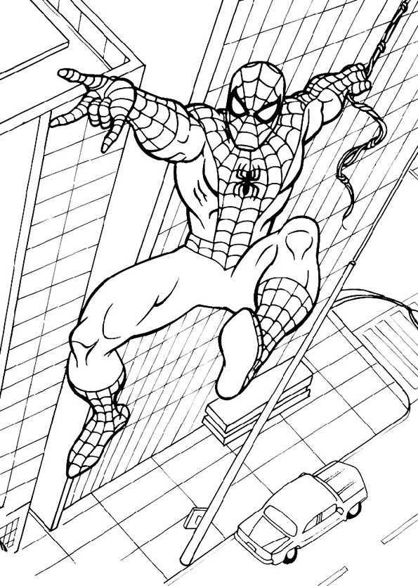 spiderman auf Gebäuden
