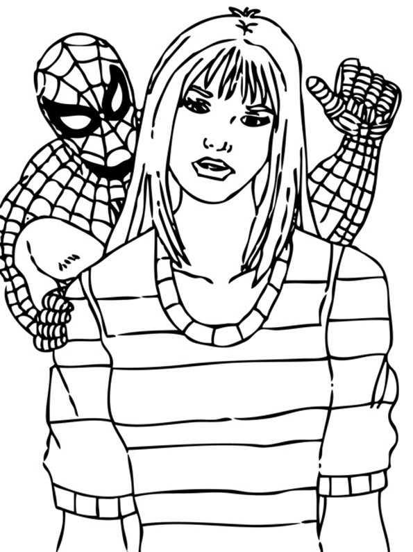 spiderman und frau