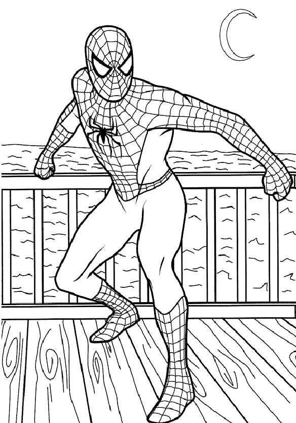 Spiderman auf einem Boot