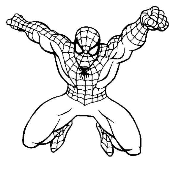 Spiderman springt