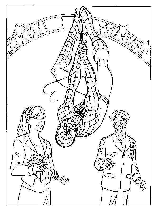 Spiderman in der Fair