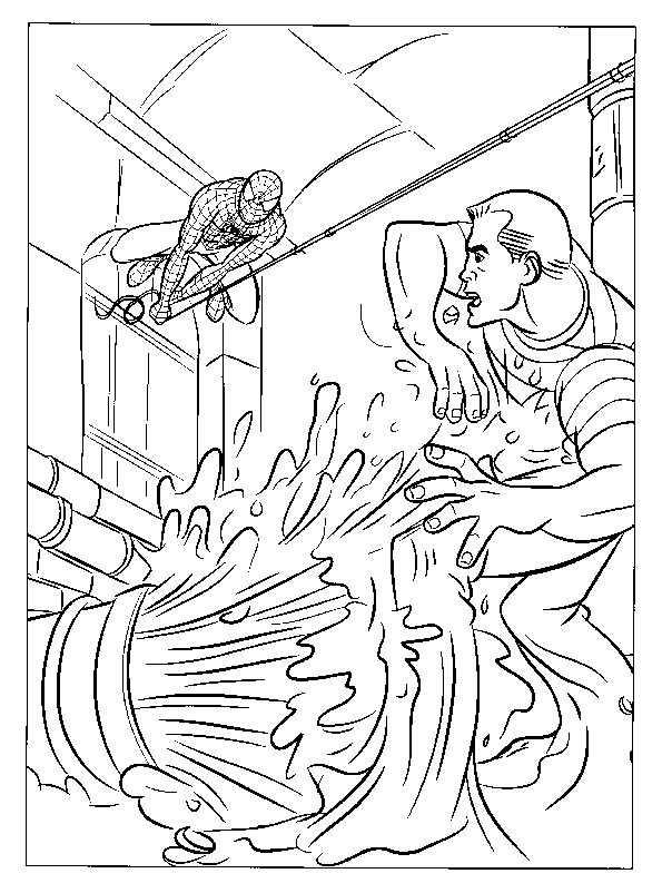 Spiderman und Wasser