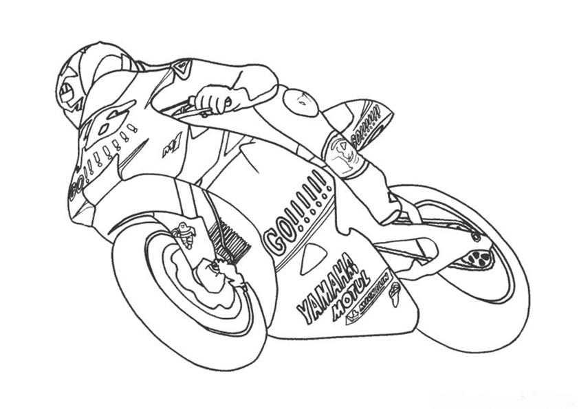motorrad malvorlagen 2