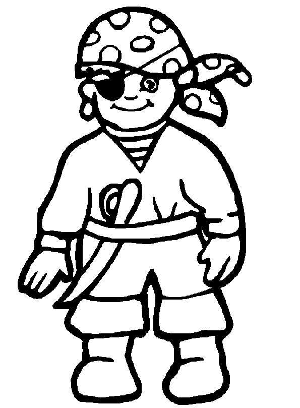 pirat zum malen