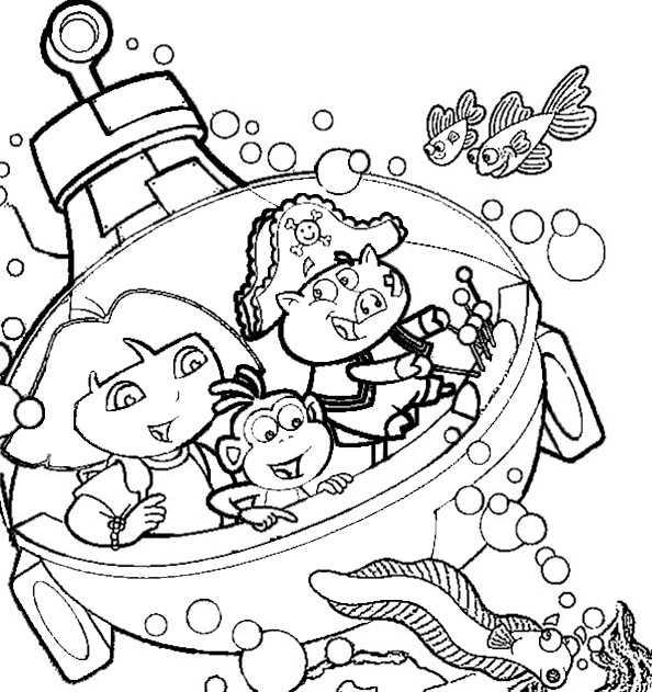 Dora und Boots von U-Boot