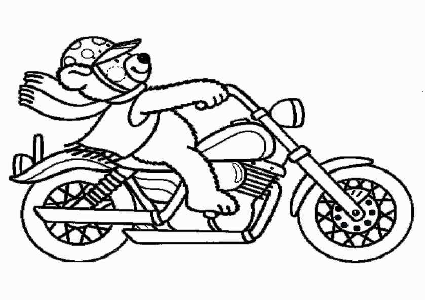 bilder motorrad 3 zum malen