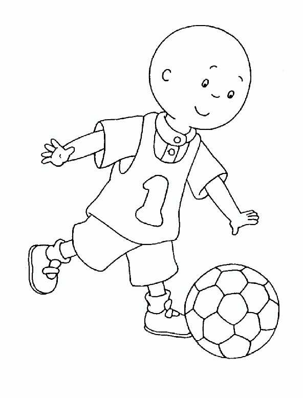 Caillou Fußballer zum ausmalen
