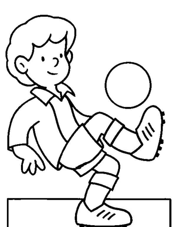 Fußballer jongliert