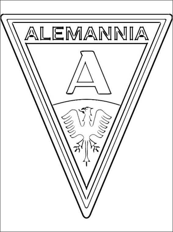 ausmalbilder logo alemannia aachen zum ausmalen