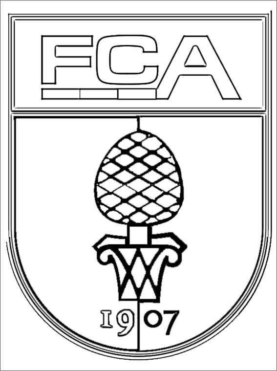 logo augsburg zum ausmalen