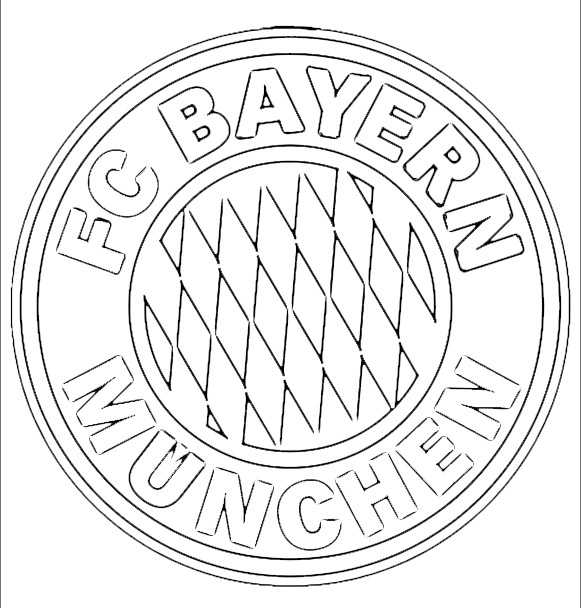 FC Bayern München Logo zum ausmalen