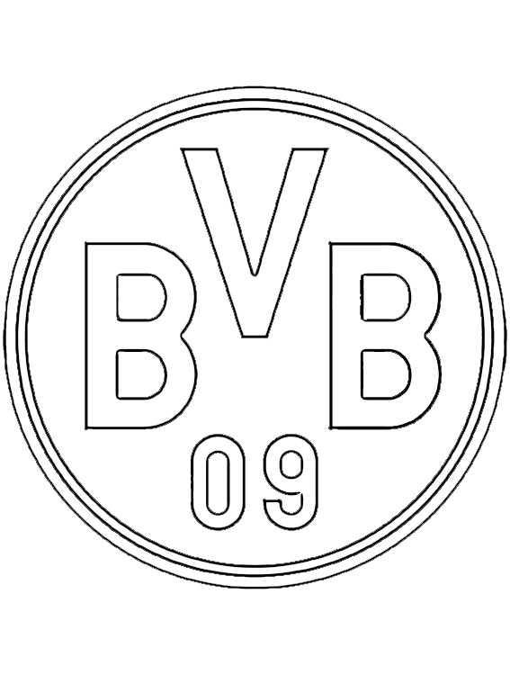 logo borussia dortmund zum ausmalen