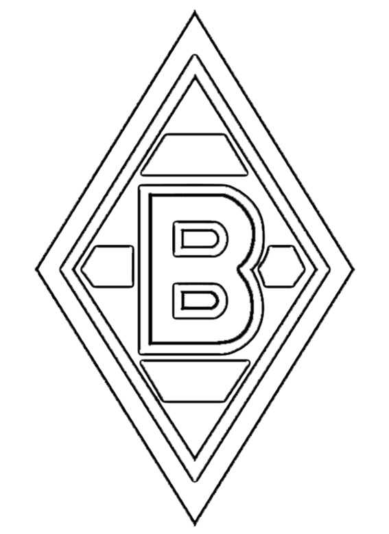 logo borussia moenchengladbach zum ausmalen