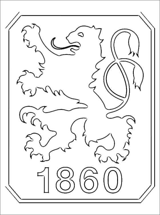 logo munchen 1860 zum ausmalen