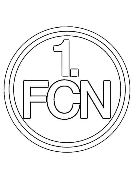wappen FC Nürnberg zum ausmalen