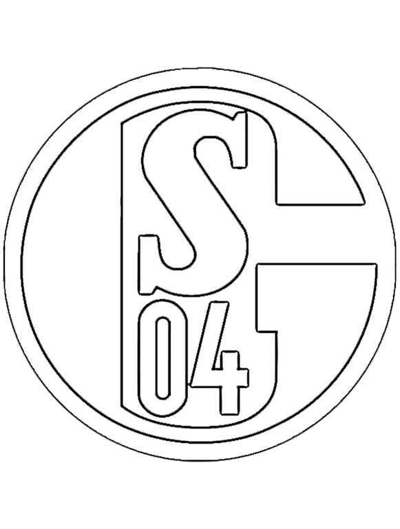 FC Schalke 04 wappen zum ausmalen