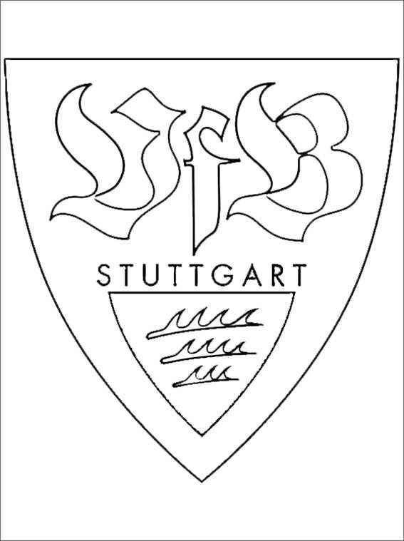 VfB Stuttgart wappen zum malen