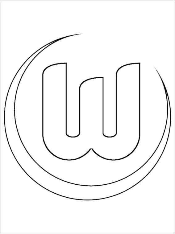 VfL Wolfsburg wappen ausmalen