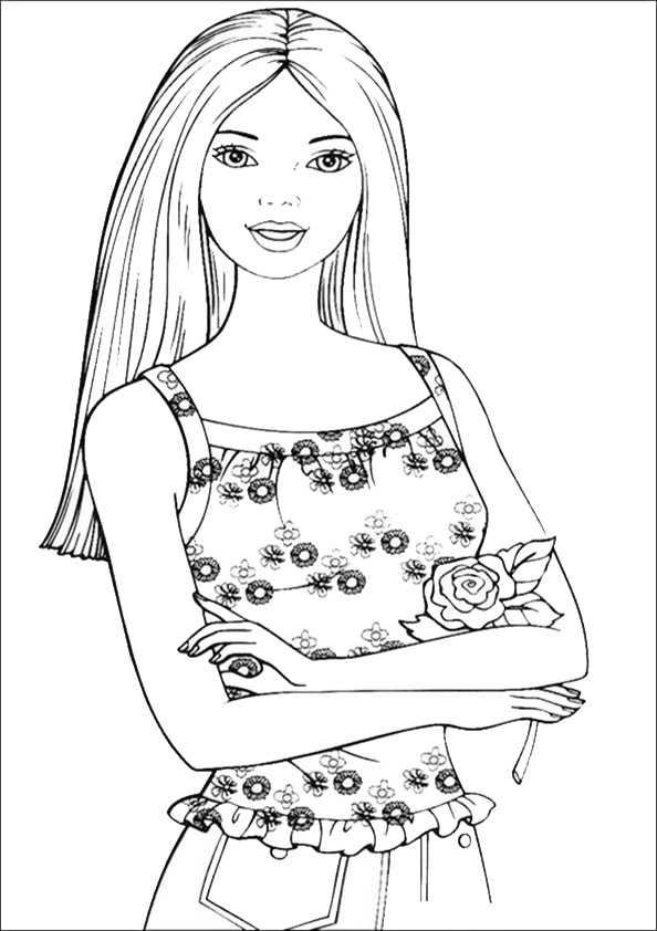 Barbie und eine Rose