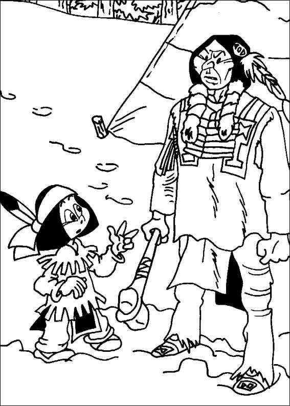 Yakari mit seinem Vater