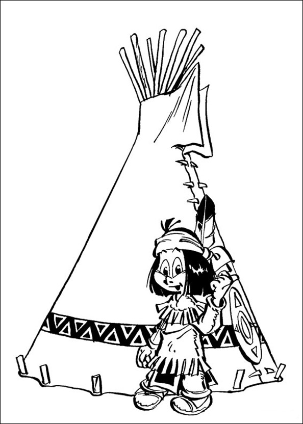 Yakari in Indian Tipi