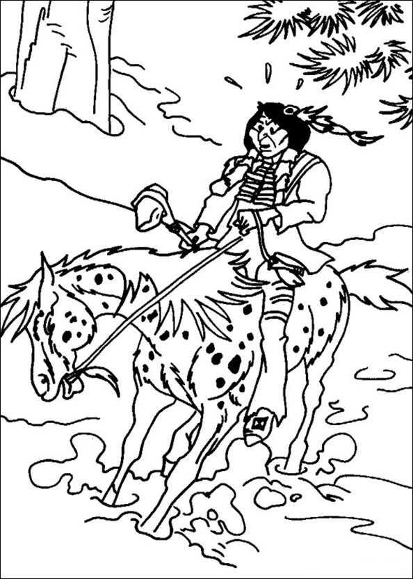 Yakari Vater auf dem Pferd