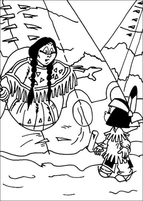 Yakari mit seiner Mutter