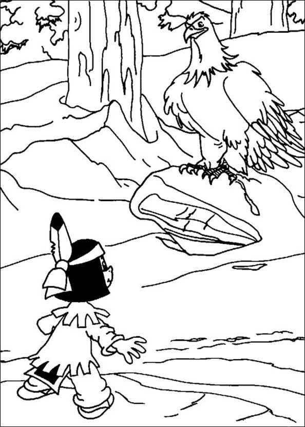 Yakari hört Großer Adler